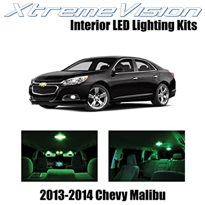 XtremeVision Interior LED for Chevy Malibu 2013-2014 (5 Pieces) Green Interior LED Kit + Installation Tool Tool: Automotive [5Bkhe0101726]