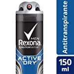 Antitranspirante Aerosol Active Dry Rexona Men Motionsense 150Ml, Rexona, Branco