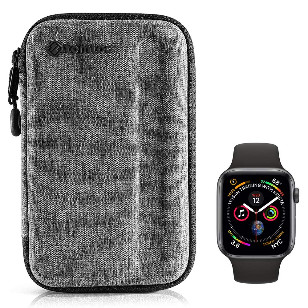 tomtoc Travel Carrying Case for Apple Watch iWatch Series 1-4, 3 Extra Bands & Accessories, Portable Protective Storage Compatible with 40mm Fitbit Blaze | Huawei Smart Digital Watch