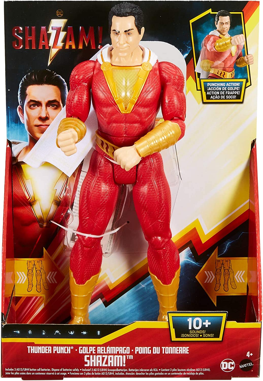 "Playsets DC Comics Shazam Thunder Punch 12 Action Figure Toys /"" Games"