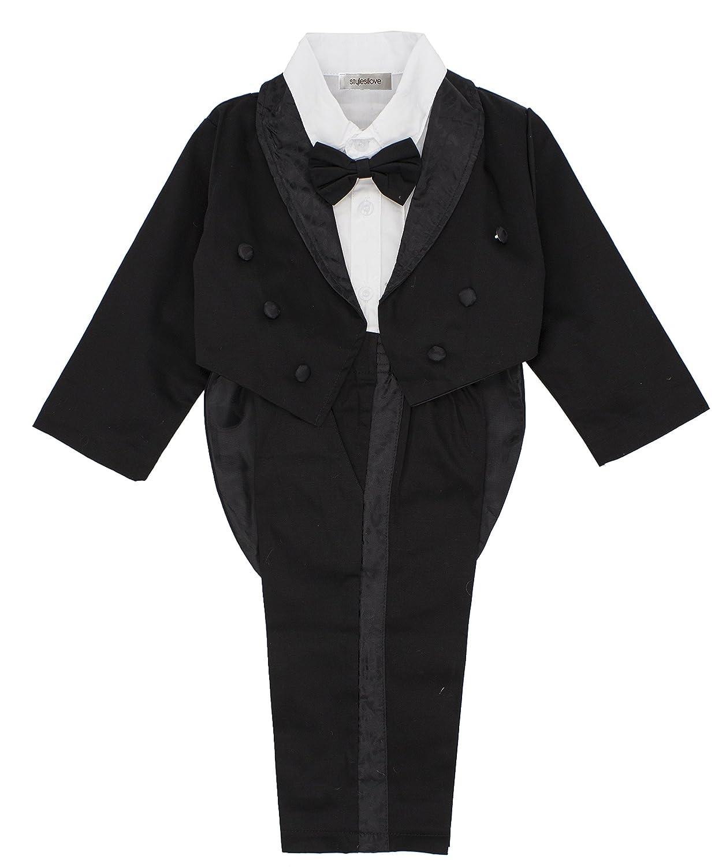 stylesilove Kid Baby Boy Tuxedo Wedding 3-Piece Outfit BC0144