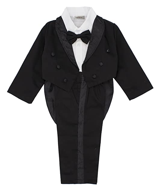 42515dd097fb Amazon.com  stylesilove Kid Baby Boy Tuxedo Formal Party Wedding 3 ...