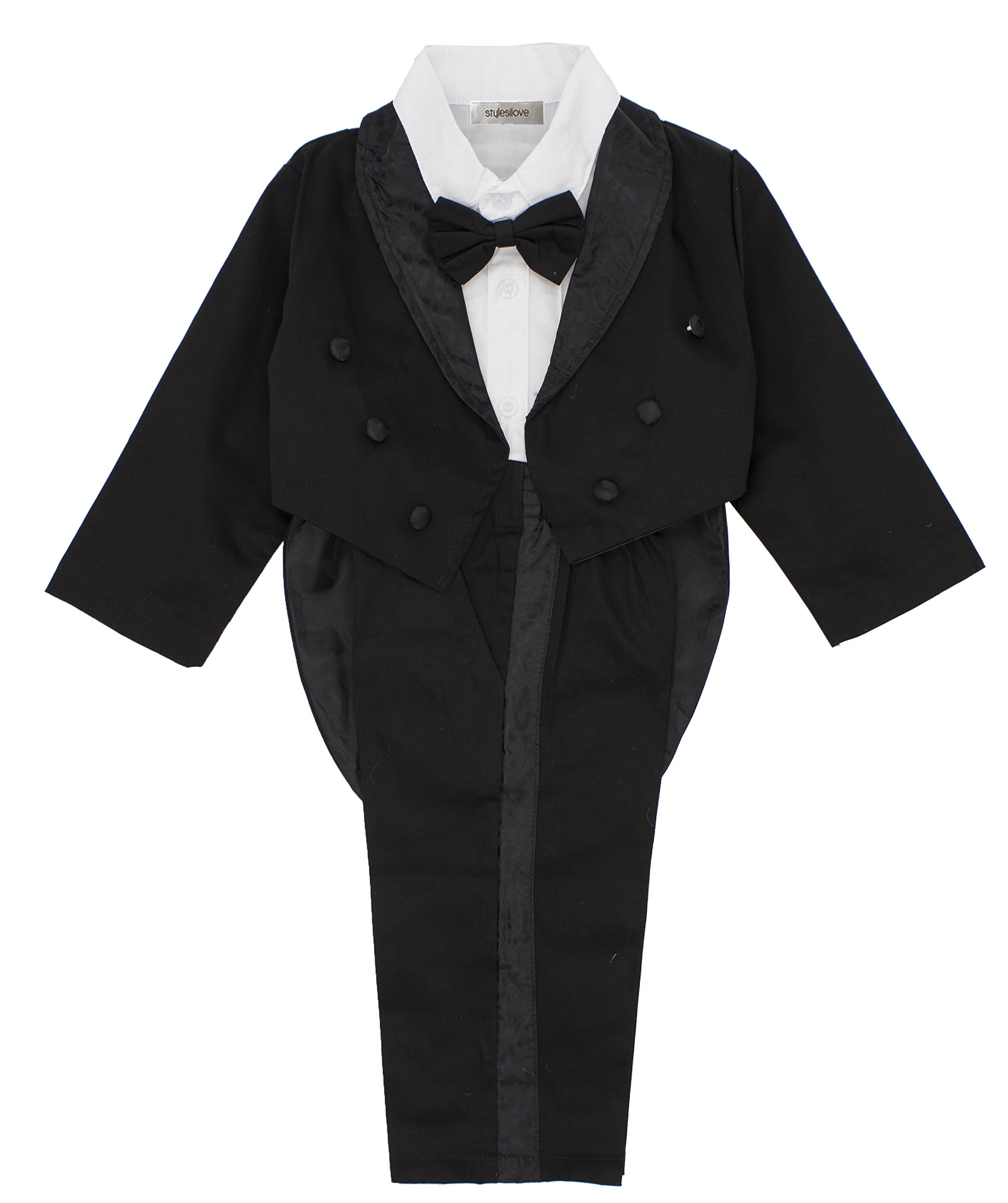 StylesILove Kid Baby Boy Tuxedo Wedding 3-piece Outfit (110/3-4 Years)