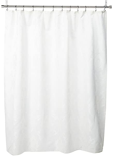 Dainty Home Vienna Jacquard Fabric Shower Curtain White