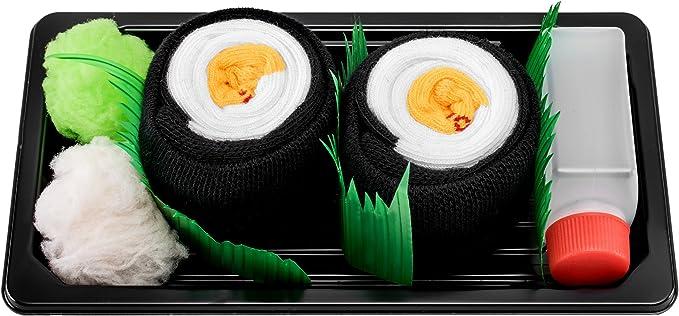 calcetas de rollito de sushi