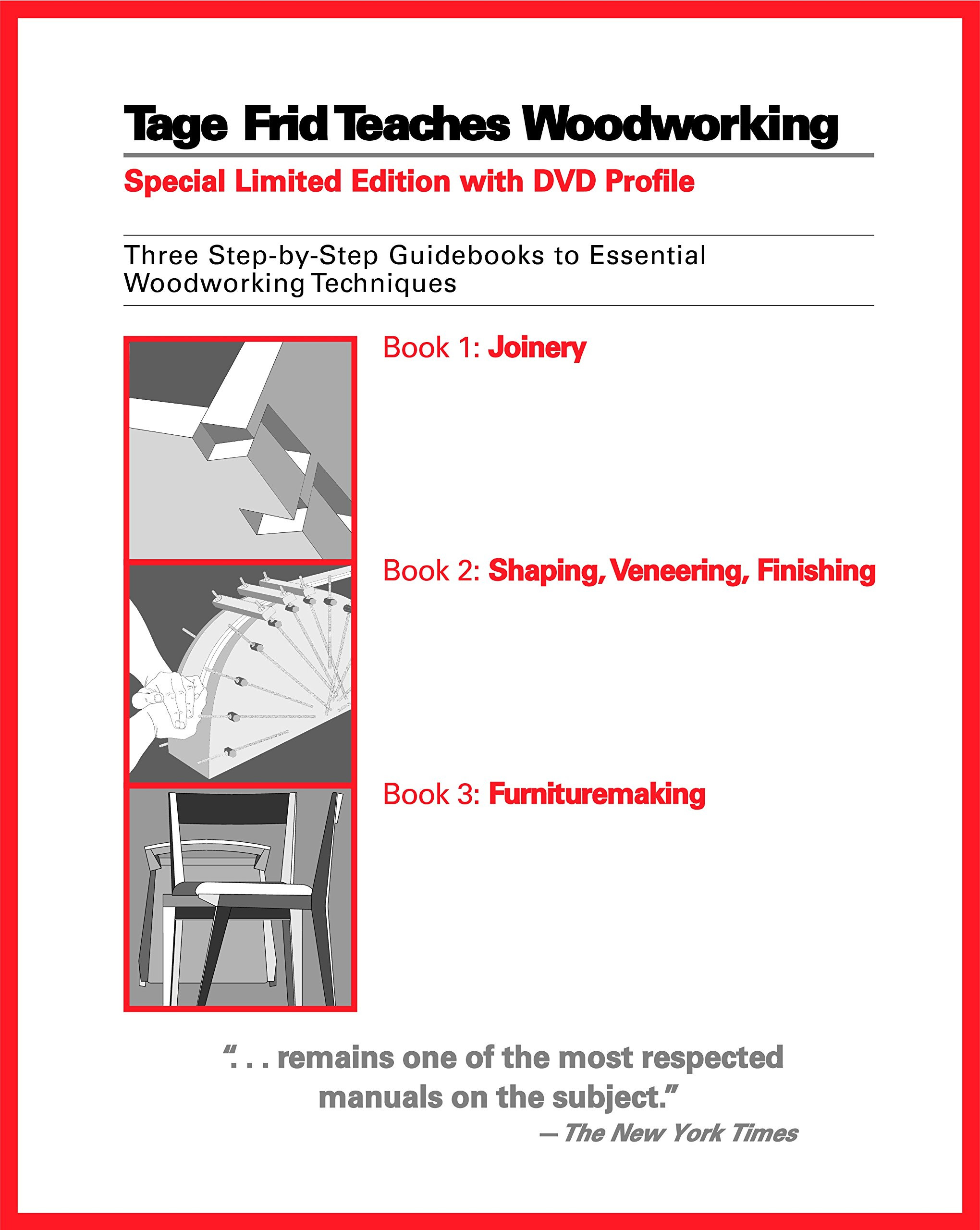 Tage Frid Teaches Woodworking: Three Step-by-Step Guidebooks to Essential Woodworking Techniques by Brand: Taunton Press (Image #1)