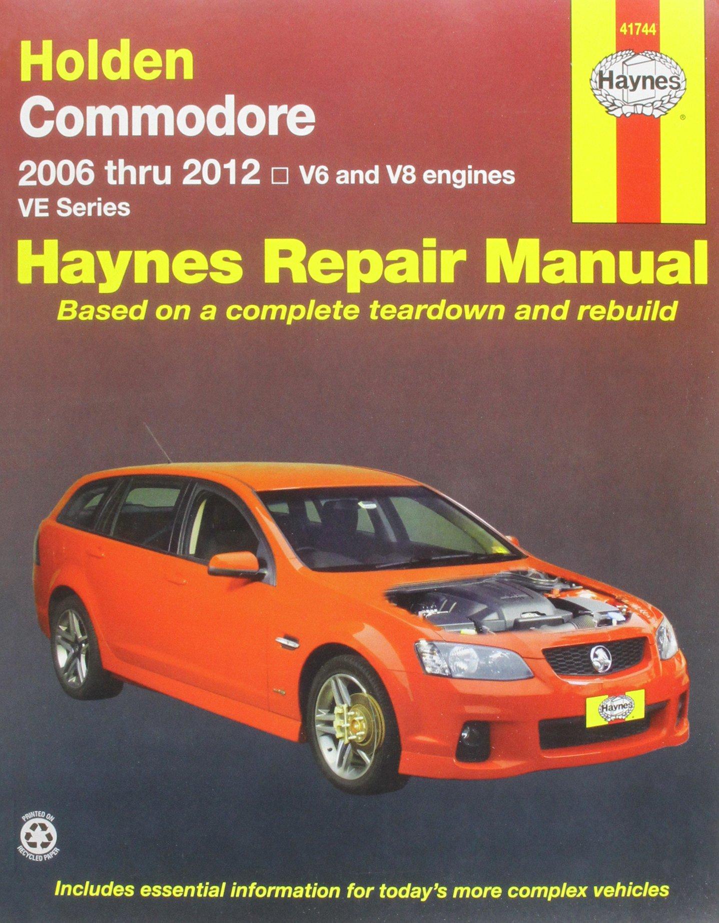 holden commodore ve 2006 12 haynes publishing 9781563929427 rh amazon com holden commodore omega owners manual Holden Omega in USA