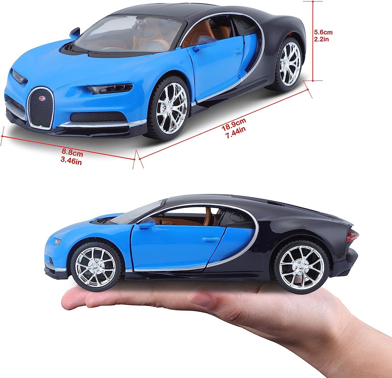 Licensed diecast model car 2017 Bugatti Chiron Coupe-black scale 1:24 collection