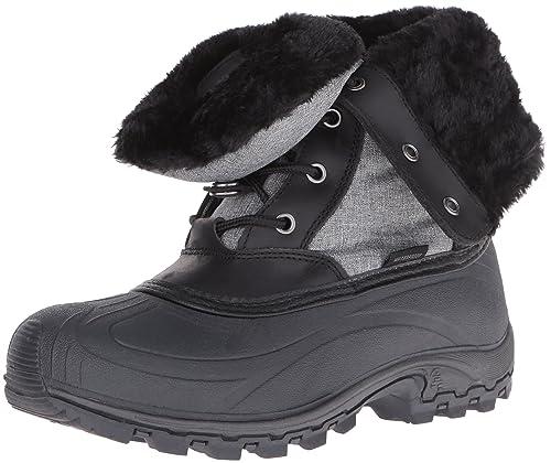Bota de nieve Harper para mujer, negra, 6 m US