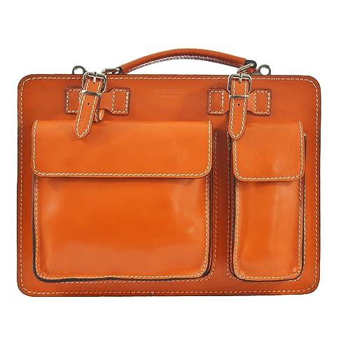 a5ca49fb2c Chicca Tutto Moda CTM Borsa da lavoro, Portadocumenti, Organizer Uomo Donna  in vera pelle made in Italy D7006-35x25x12 Cm: Amazon.it: Scarpe e borse