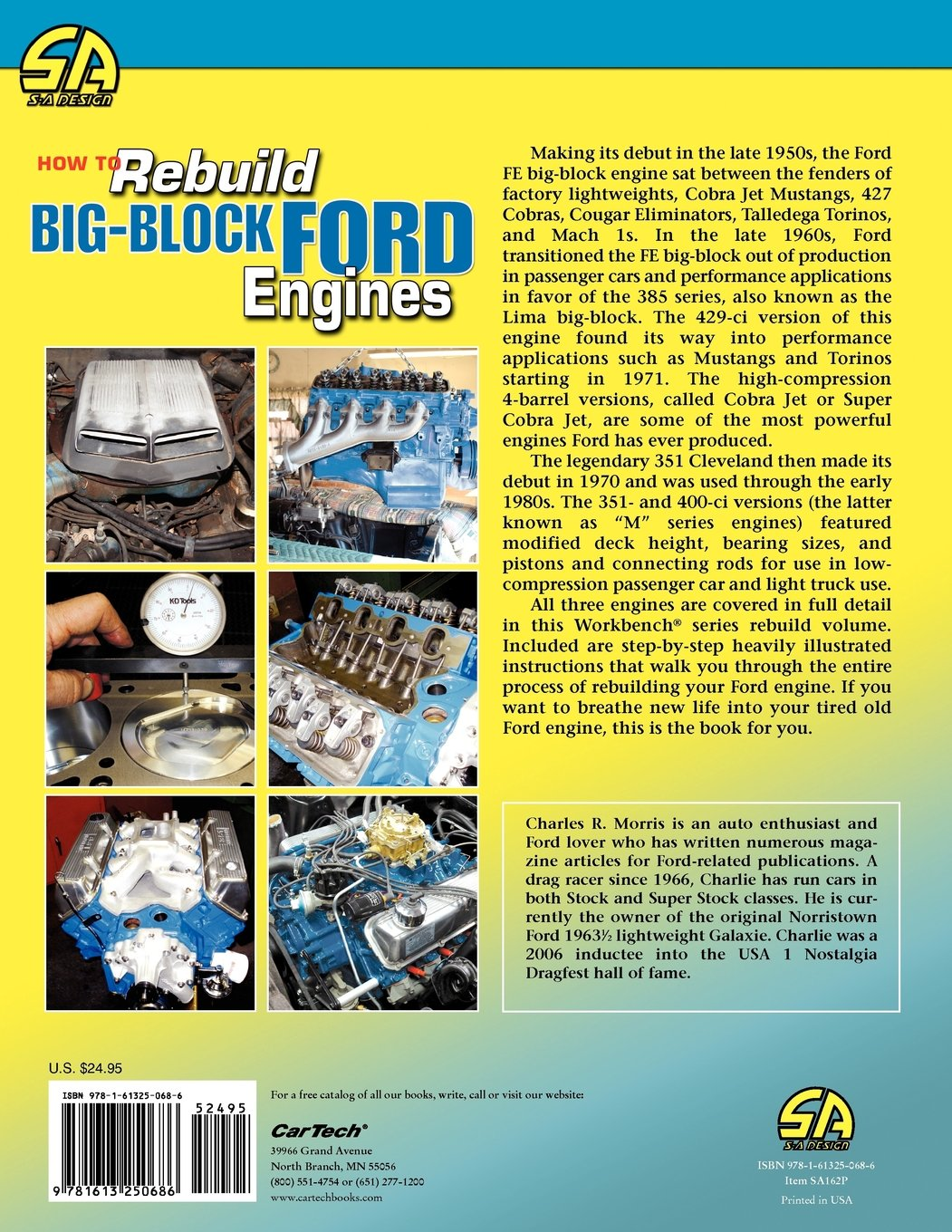 How to rebuild big block ford engines workbench how to charles morris 9781613250686 amazon com books