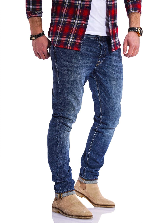 JACK /& JONES Jeans da Uomo Glenn ARIS Slim Fit Stretch Denim Pantaloni