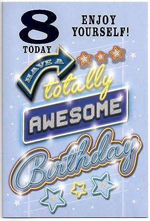 Birthday Card Eight 8 Year Old Boy
