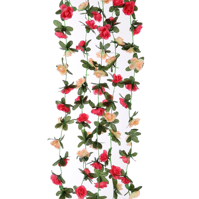 Amazon Felice Arts 4pcs Artificial Flowers 82 Ft Fake Plastic
