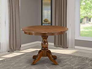 East West Furniture HBT-AWA-TP Table, Round