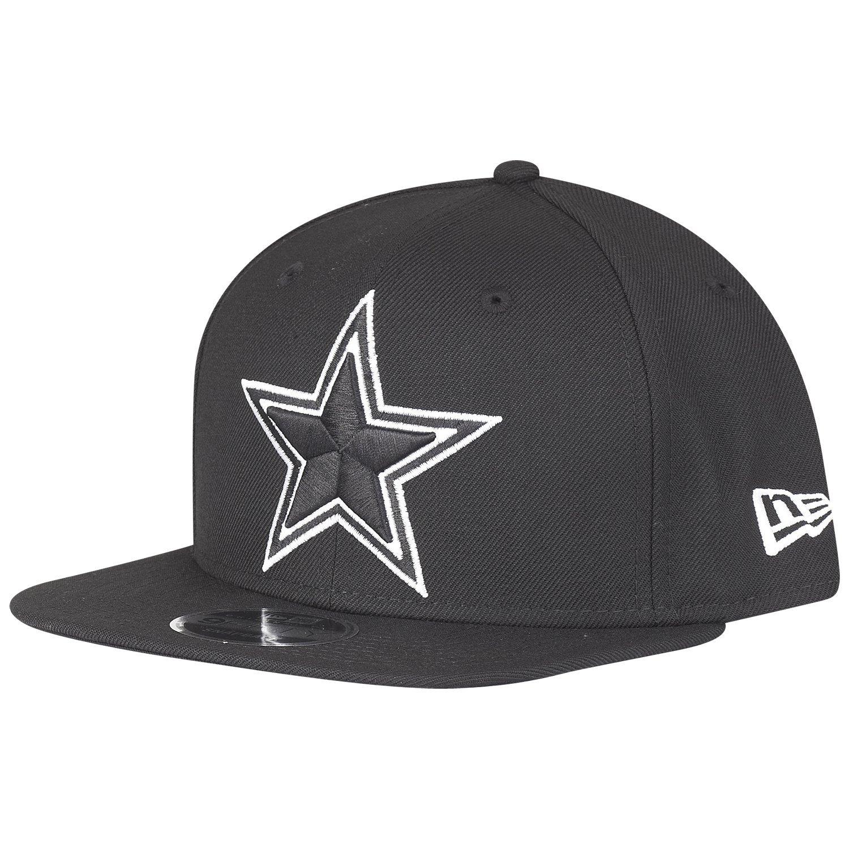 a0c0399cf39 Amazon.com  New Era NFL Dallas Cowboys Black White Logo Snapback Cap 9fifty  Limited Edition  Clothing