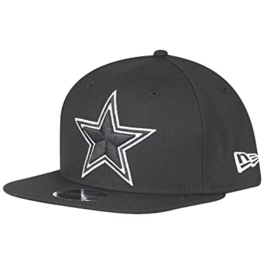 0dbab2a5653ac Amazon.com  New Era NFL Dallas Cowboys Black White Logo Snapback Cap ...