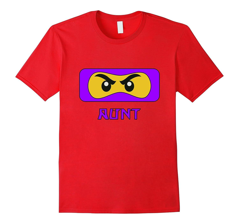 Aunt Ninja Face Family T-Shirt-T-Shirt