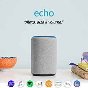 Amazon Echo (3ª generazione) - Altoparlante intelligente con Alexa - Tessuto grigio mélange