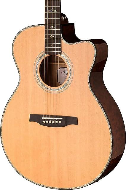 PRS Paul Reed Smith SE Angelus Guitarra eléctrica acústica con estuche, negro y dorado: Amazon.es: Instrumentos musicales