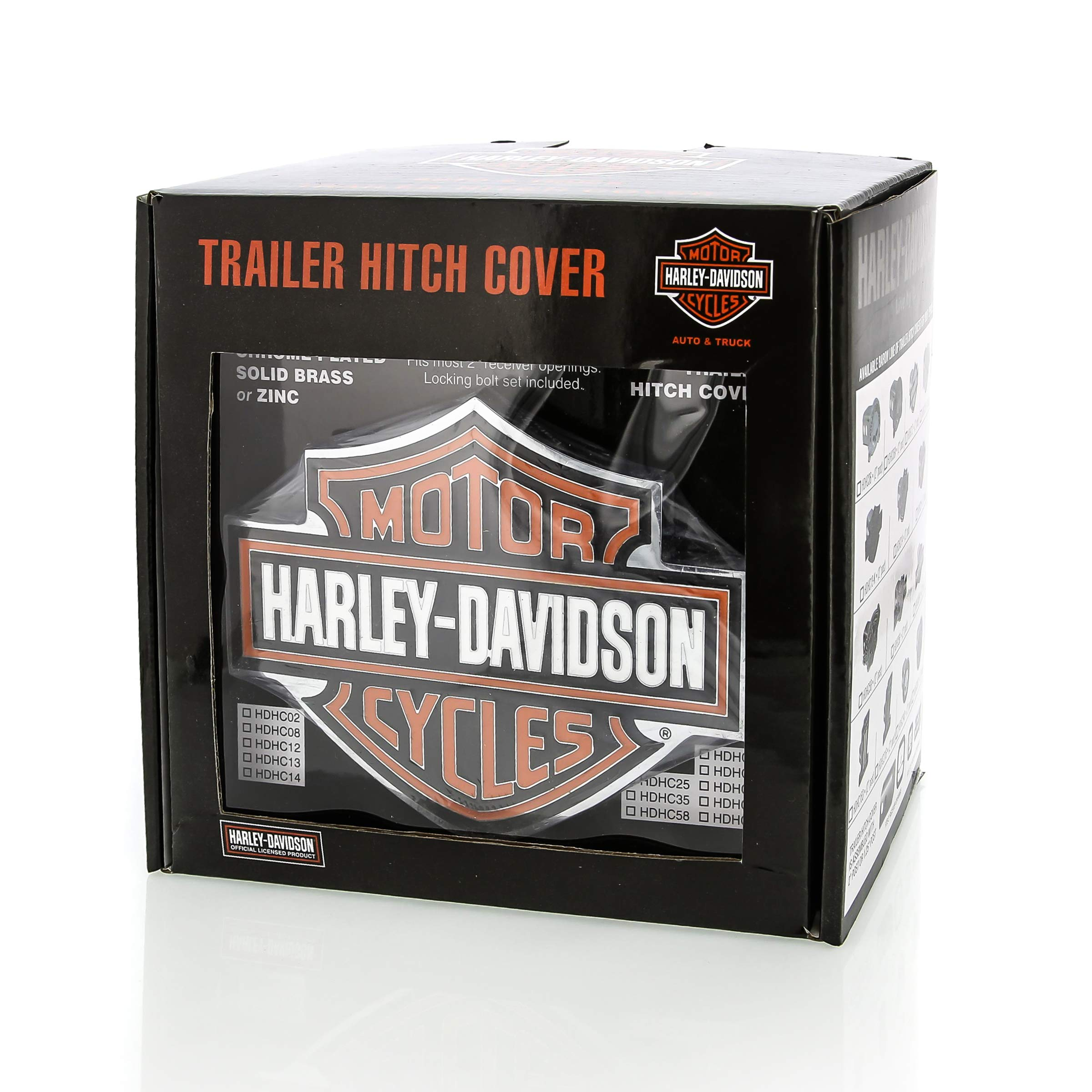 Harley-Davidson Orange Bar & Shield Trailer Hitch Cover 2'' HDHC25 by HARLEY-DAVIDSON