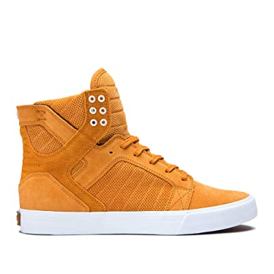 Supra Footwear - Skytop High Top Skate Shoes, Desert-White, 10 M US Women/8.5 M US Men: Clothing