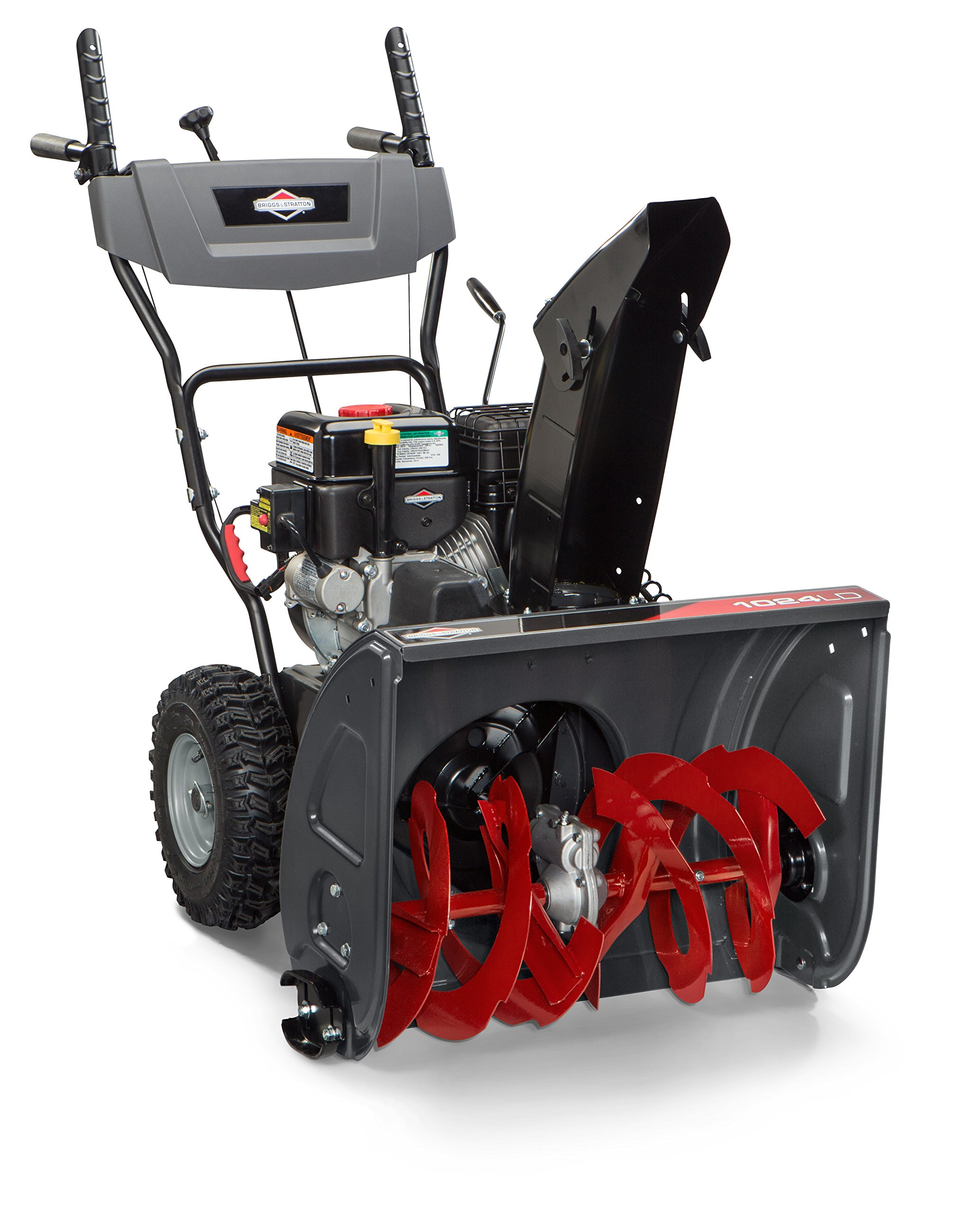 Briggs & Stratton 1696610 Dual-Stage Snow Thrower with 208cc Engine and Electric Start, 24''
