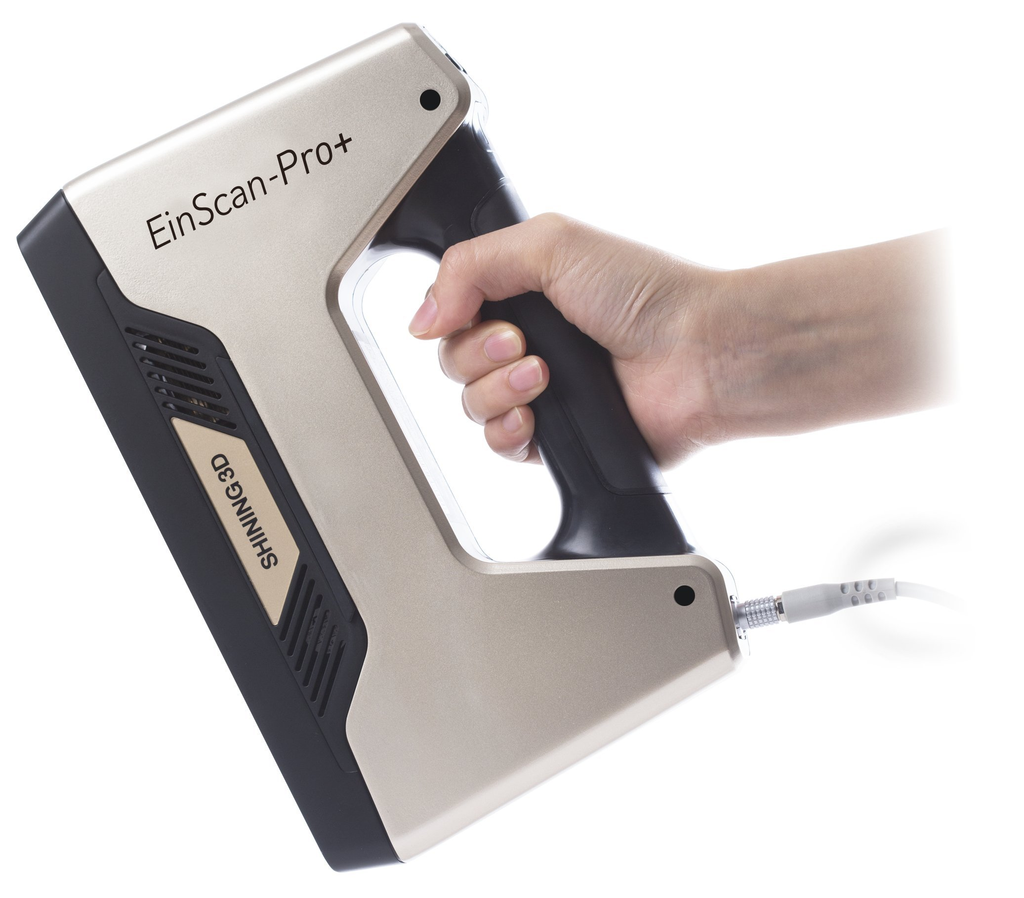 EinScan-Pro+ with R2 Function Multi-Functional Handheld 3D Scanner, White Light, 4 Scan Modes, 0.05 mm Accuracy 550,000 Points/Sec Scan Speed, Industrial Level Handheld 3D Scanner for Design Research