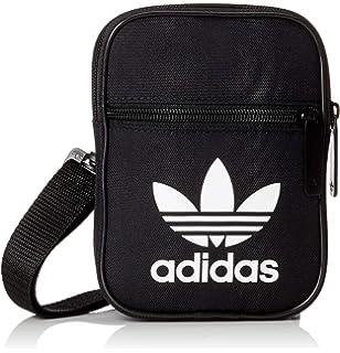 455b0e5211f Adidas Unisex's Mini Vintage Messenger Bag, Black, 15 cm x 20 cm x 9 ...
