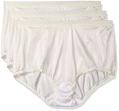 1b295fe93 Shadowline Women s Plus-Size Panties-Low Rise Nylon Brief (3 Pack) at  Amazon Women s Clothing store