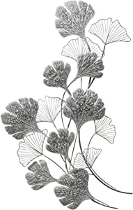 Stratton Home Decor Ginkgo Metal Flower Decor Wall Décor, Extra Large, Multi Color