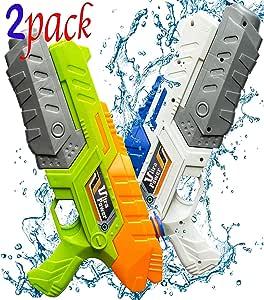 Favorite.Time. Water Guns Blaster Squirt Shooters Watergun for Kids Long Range Outdoor Toys 2 Pack