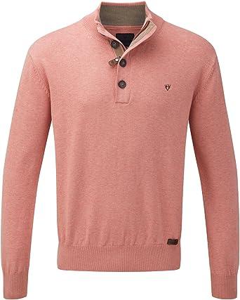 Vedoneire de Hombre para algodón con Media Cremallera Jersey (4302) salmón Rosa o Rojo: Amazon.es: Ropa y accesorios