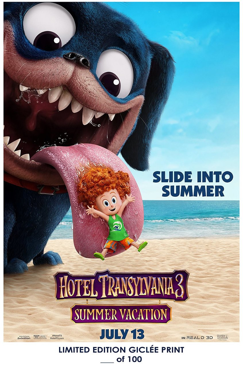 Lost Posters RARE POSTER thick HOTEL TRANSYLVANIA 3: SUMMER VACATION dennis 2018 movie REPRINT #'d/100!! 12x18