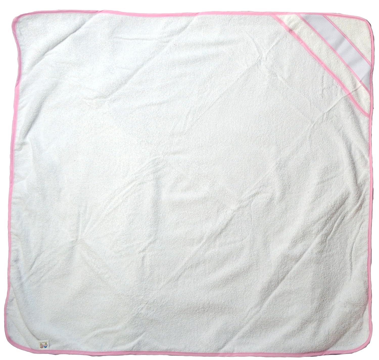 Capa de baño color rosa. Tamaño 100x100 cm. Bordado con el nombre: Amazon.es: Bebé