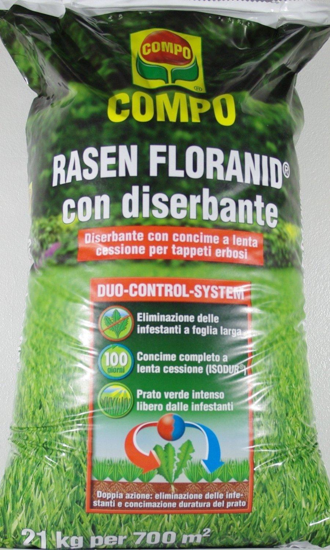 RASEN FLORANID Dünger für den Rasen mit Herbiziden AKTION IN CONF. Von 21 KG
