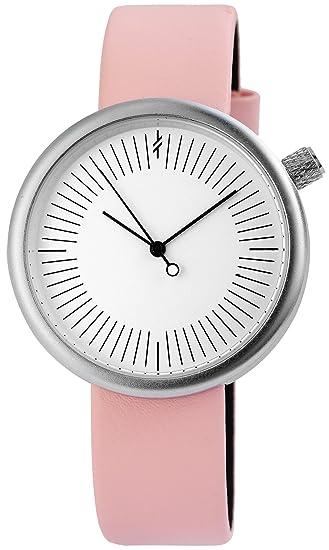 Reloj mujer Blanco Rosa Plata analógico de cuarzo piel Reloj de pulsera