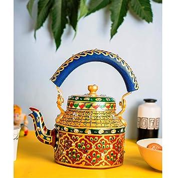 Buy Ihandikart Hand Painted Figurine Aluminium Decorative Tea Kettle
