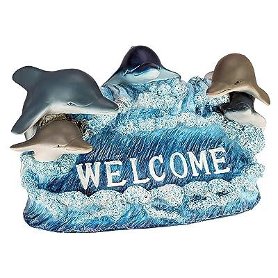 Design Toscano Dolphin Welcome Statue : Collectible Figurines : Garden & Outdoor