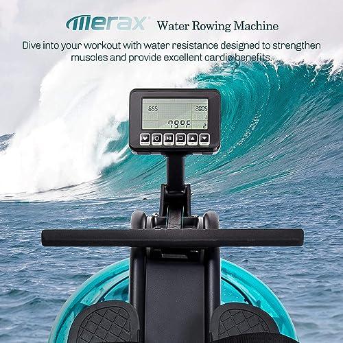 Merax Water Rowing Machine Fitness Indoor Water Rower