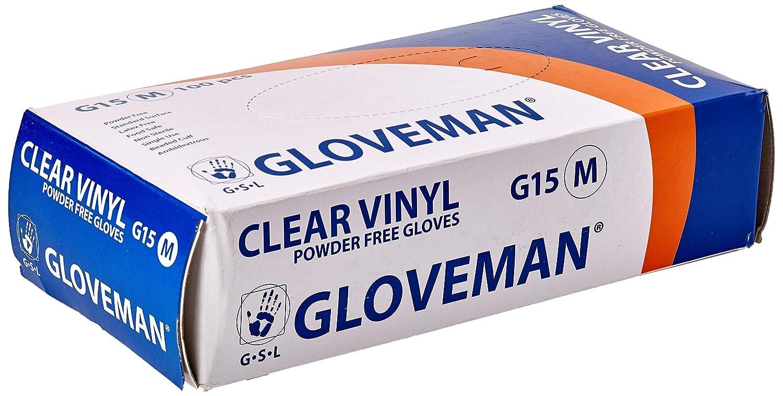 Large Gloveman Clear Vinyl Gloves Box of 100