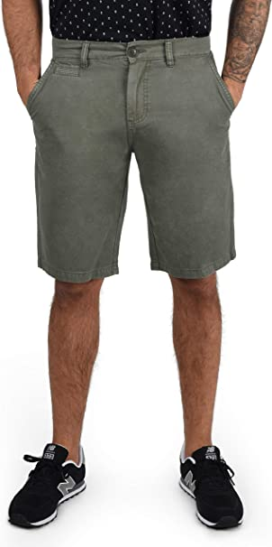 !Solid Viseu Chino Pantalón Corto Bermuda Pantalones De Tela ...