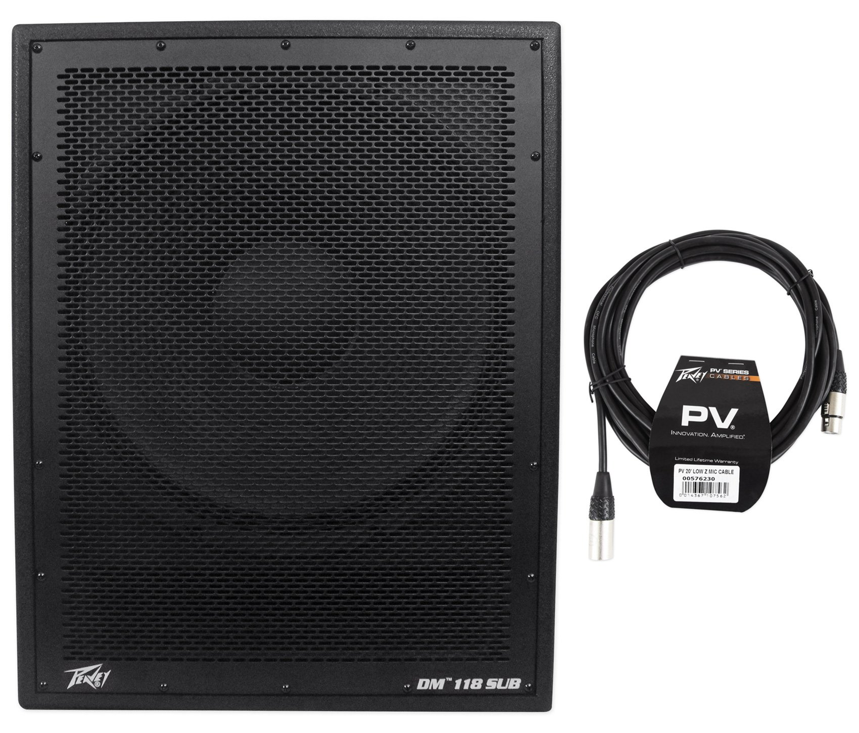 Peavey DM 118 Sub 18'' 1000W Powered Subwoofer+Digital DSP+XLR Cable by Peavey