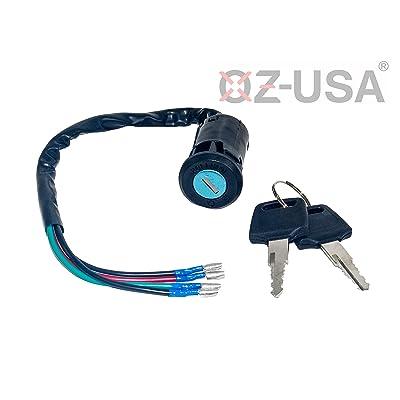 OZ-USA Key Ignition Switch On Off Motorcycle Dual Sport Dirt Bike ATV Universal Super Moto MX: Automotive