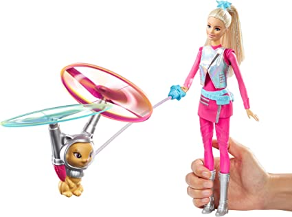 Barbie Star Light Adventure Doll Flying Cat Space Spin Hover Kids Best Fun Gift