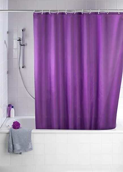 Wenko QuotAnti Mould Shower Curtain Purple