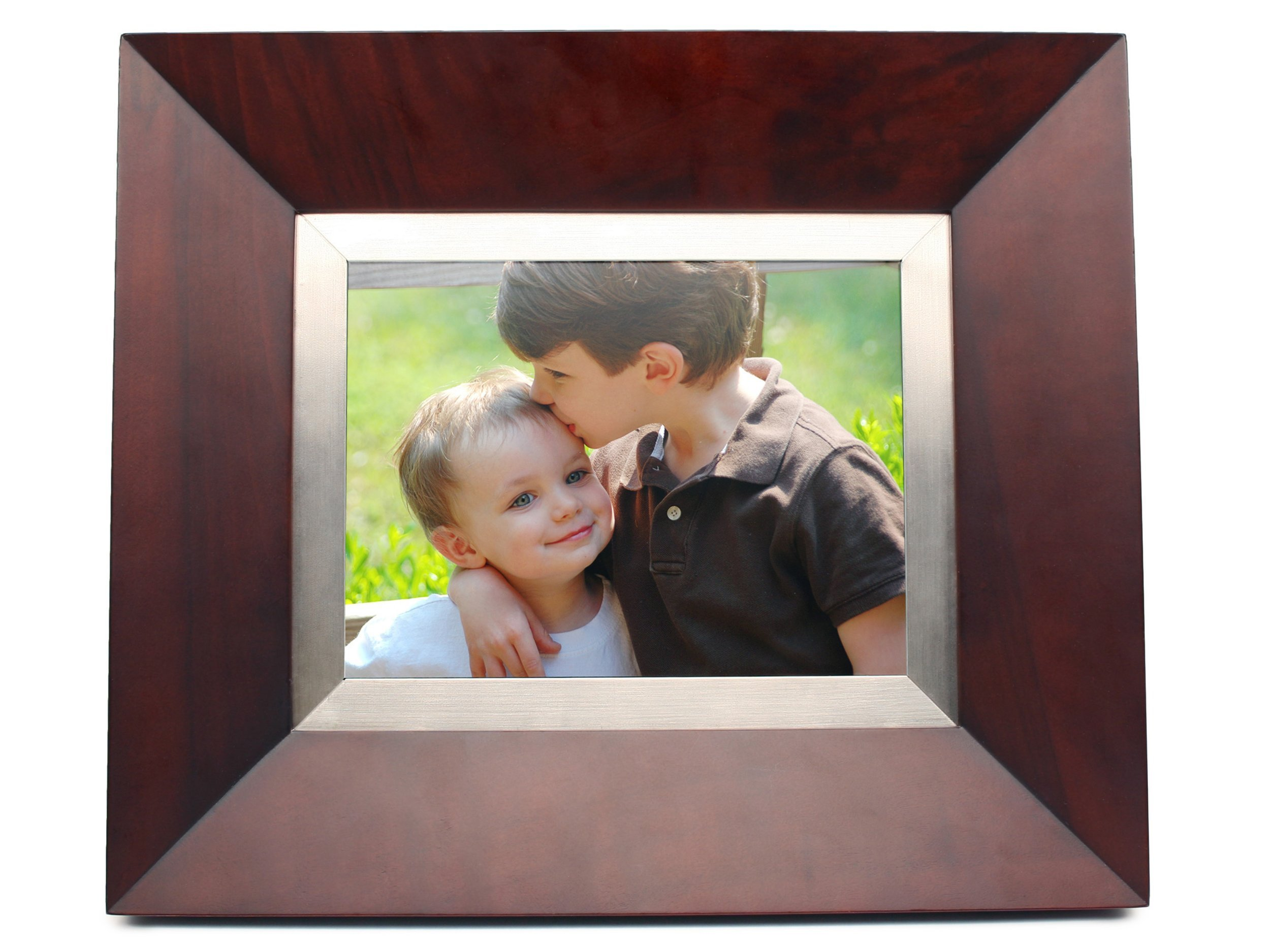 Cagic C8-MAHOGANY 8.4-Inch TFT LCD Digital Picture Frame with TrueVu (Mahogany Wood) by Cagic