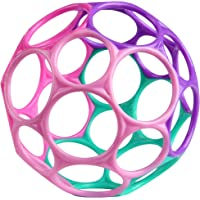 Oball Classic, flexibel en licht grijpbaar design voor kinderen van alle leeftijden, Roze/paars