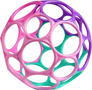 Bright Starts Oball Classic Easy-Grasp Toy - Pink/Purple
