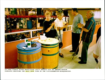Vintage photo of Tourists enjoying The Body Shop tour at the